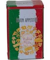 Pasta bewaarblik bewaardoos metaal 12 x 18 cm rechthoekig