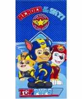Paw patrol heroes badlaken strandlaken blauw 70 x 140 cm