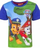 Paw patrol shirt blauwe mouwen