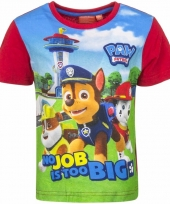 Paw patrol shirt rode mouwen