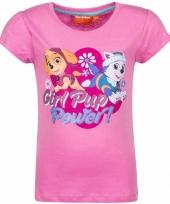 Paw patrol skye en everest-shirt lichtroze