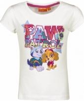 Paw patrol skye en everest-shirt wit