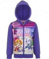 Paw patrol sweatshirt voor meisjes paars