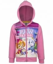 Paw patrol sweatshirt voor meisjes roze 10093320