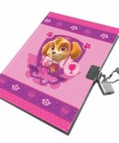 Paw patrol thema dagboek roze