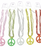 Peace sieraden kralenketting