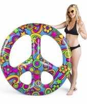 Peace teken strand luchtbed 120 cm