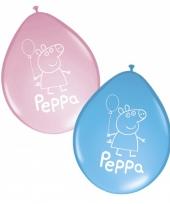Peppa big ballonnen roze en blauw