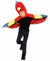 Peuter kostuums papegaaien cape