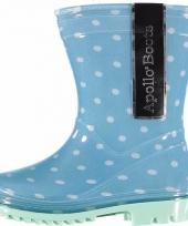 Peuter regenlaarzen blauw met stippen