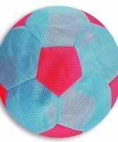 Peuterspeelgoed licht blauw roze zachte voetbal 23 cm