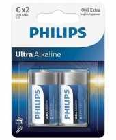 Phillips ll batterijen pakket r14 1 5 volt 2 stuks