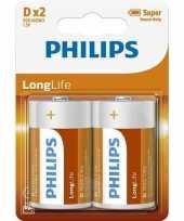 Phillips ll batterijen pakket r20 1 5 volt 2 stuks