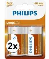 Phillips ll batterijen pakket r20 1 5 volt 4 stuks