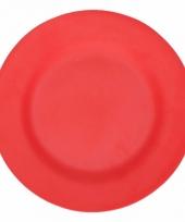 Picknick bordjes van bamboe vezel rood 17 5 cm
