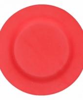 Picknick bordjes van bamboe vezel rood 19 8 cm