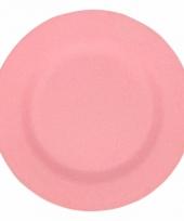 Picknick bordjes van bamboe vezel roze 19 8 cm