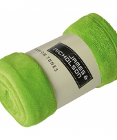 Picknick kleed van fleece lime groen