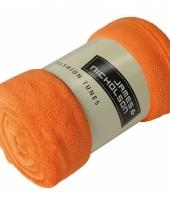Picknick kleed van fleece oranje