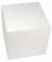 Piepschuim figuren kubus 20 cm