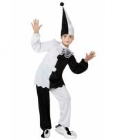 Pierrot clown pak voor kinderen