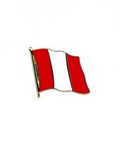 Pin speld vlag peru 20 mm