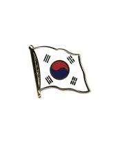 Pin speld vlag zuid korea 20 mm