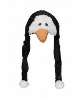 Pingu n mutsen pluche met flappen 18 cm
