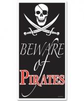 Piraat feestje deurposter