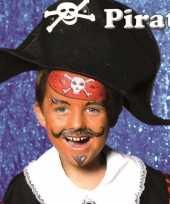 Piraat schminken schminkset 6 delig