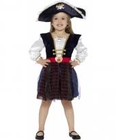 Piraat verkleed jurkje met glitters voor meisjes