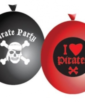 Pirate party ballonnen set 6 stuks