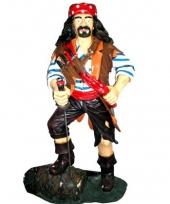 Piraten beeld op ton 180 cm