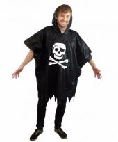 Piraten doodshoofd regenponcho