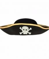 Piraten hoeden voor kinderen zwart