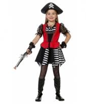 Piraten jurkje met rood hesje voor meisjes