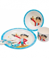 Piraten kinderservies melamine compleet