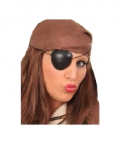 Piraten ooglapje van plastic