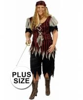 Piraten outfit grote maat voor dames