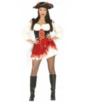 Piraten pakje dames rood