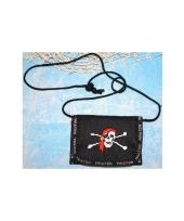 Piraten portefeuille met koord om de nek