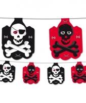 Piraten slinger zwart rood
