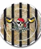 Piraten verjaardag bordjes 16x