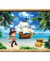 Piraten wandversiering poster kapitein
