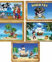 Piratenfeestje posters 5 stuks