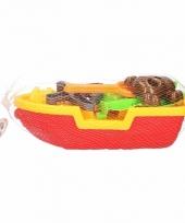 Piratenschip zandbak speel setje rood