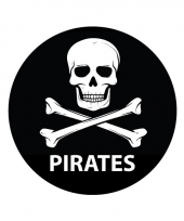 Pirates sticker rond