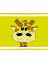 Placemat groen met giraffe 44 cm
