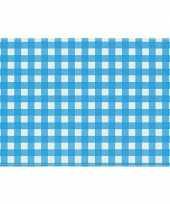 Placemats blauw wit geblokt 43 x 30 cm