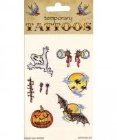 Plak tatoeages halloween thema